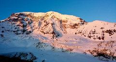 Rock Climbing Photo: view of Liberty Ridge from camp Curtis
