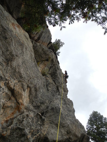Rock Climbing Photo: Natasha leads 5.9.