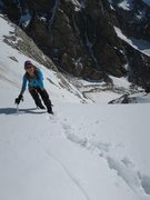 Rock Climbing Photo: Me at the top of the couloir.