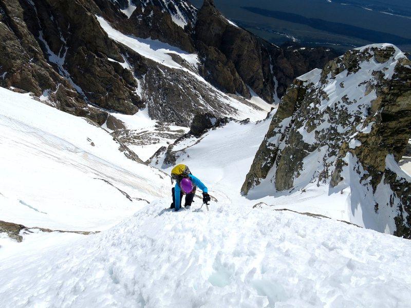 Rock Climbing Photo: Just below the south summit block.