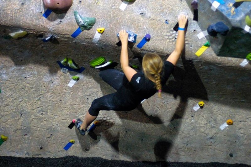 Rock Climbing Photo: Traversing...