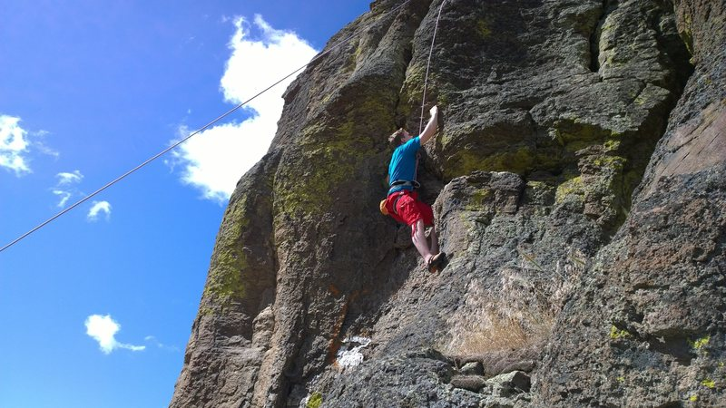 Spencer Smith on the first ascent