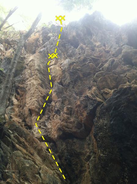 Rock Climbing Photo: Route 11