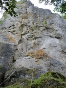Rock Climbing Photo: A more close-up view of the upper section of the r...
