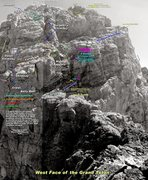 Rock Climbing Photo: Beta photo with tons of useful info copied from wy...