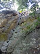 Rock Climbing Photo: Kamikaze Lizards.  The white stuff is lichen, not ...