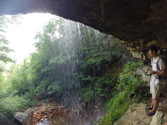 Rock Climbing Photo: Waterfall!  The trail to most of the climbs runs d...