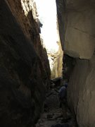 Rock Climbing Photo: When hot this line will be in the shade