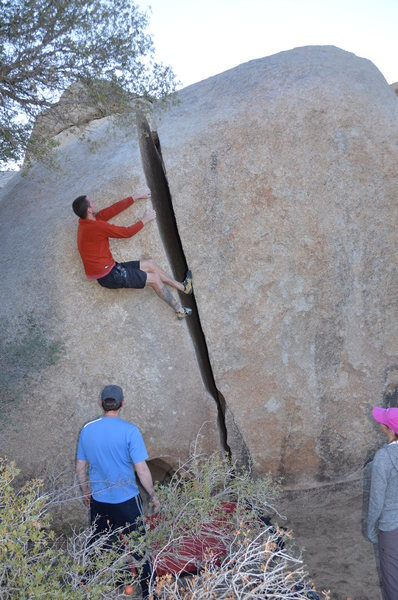 When sport climbers go off-width climbing.  I am a little embarrassed of this picture.