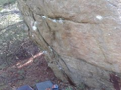Rock Climbing Photo: First part on the Buddha Traverse. The positive ra...