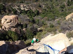 Rock Climbing Photo: Coming up The Rapture, my first time at the Gibral...