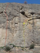 Rock Climbing Photo: Close up of the middle of the Mid West North End.