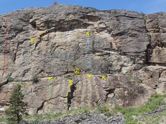 Rock Climbing Photo: The Mid West North End - upper and lower faces top...