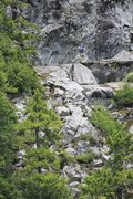 """Rock Climbing Photo: The FA party on the upper pitch of """"Ablation ..."""