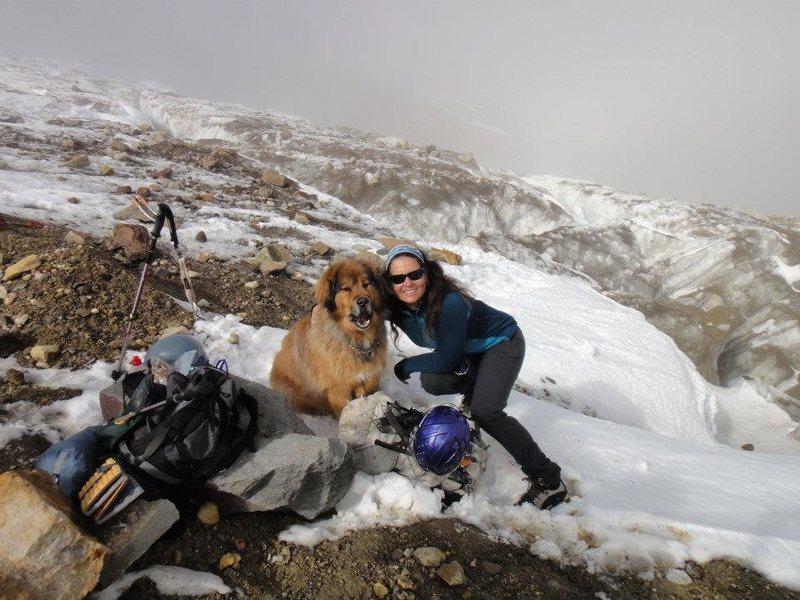 Cody, my ice ropegun, on the Eliot Glacier.