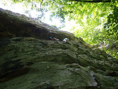 Rock Climbing Photo: Attempting to TR it.   Ridin' the Short Buzz 5.9- ...