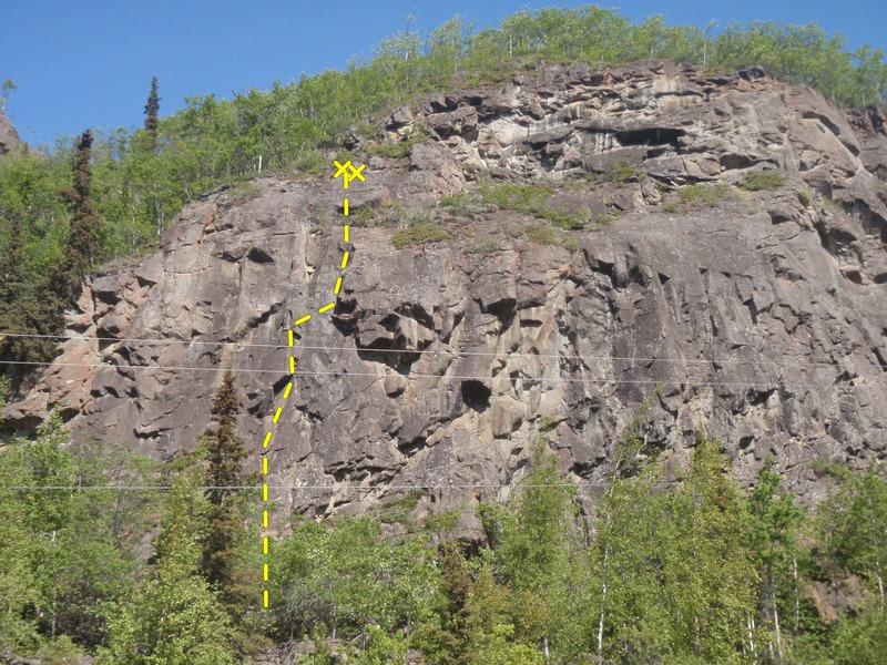 Rock Climbing Photo: Climb the first 2/3's of Shakti then move right fo...