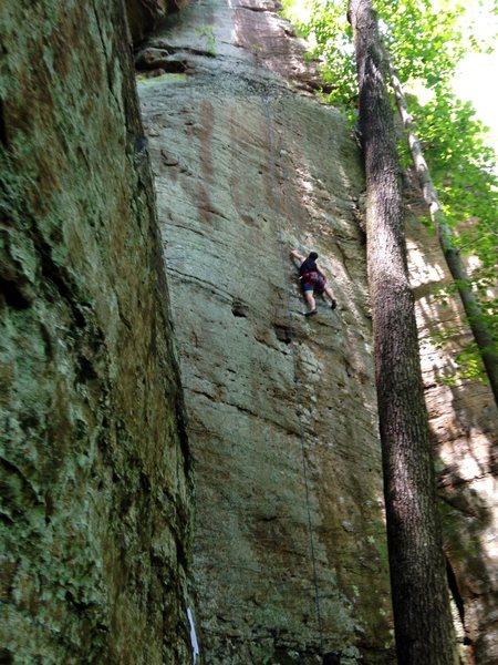 Rock Climbing Photo: full route