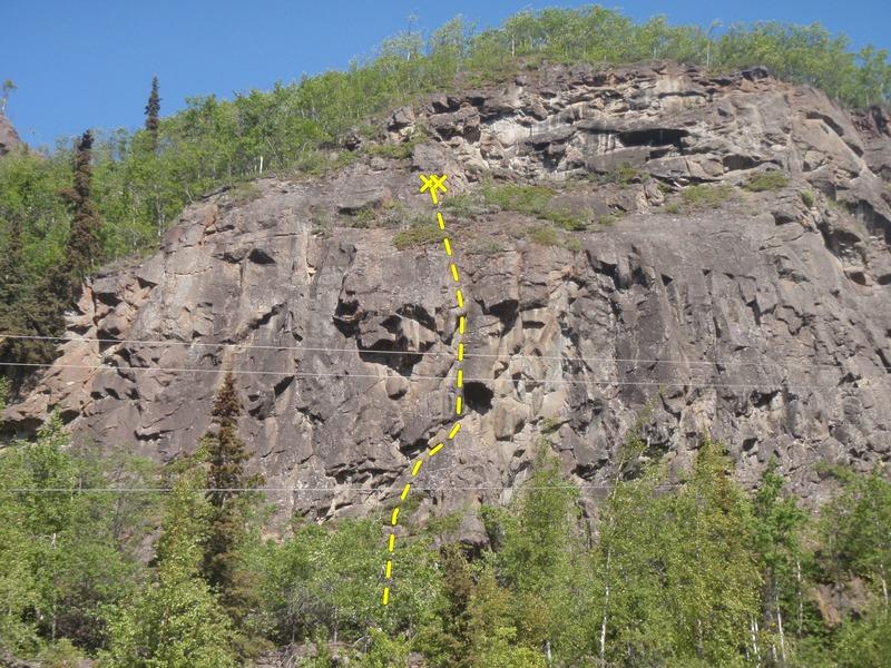 Loose rock and vegetation :(