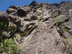 Rock Climbing Photo: ITX climbs this steep section of wall on great roc...