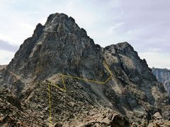 Rock Climbing Photo: The traverse of the West Face . . . go to the seco...
