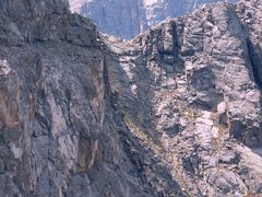 Rock Climbing Photo: A close up of the gully going up to the ridge on t...