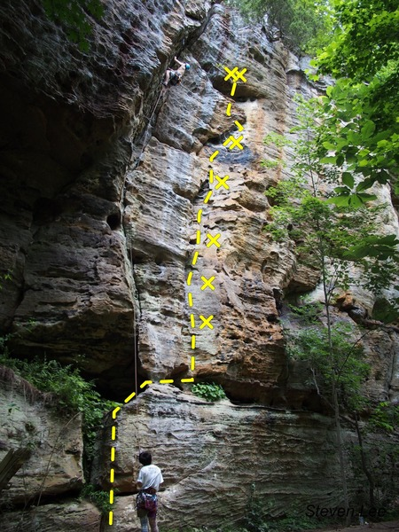 Rock Climbing Photo: To the right of Banjolero - a nice, gentle climb w...