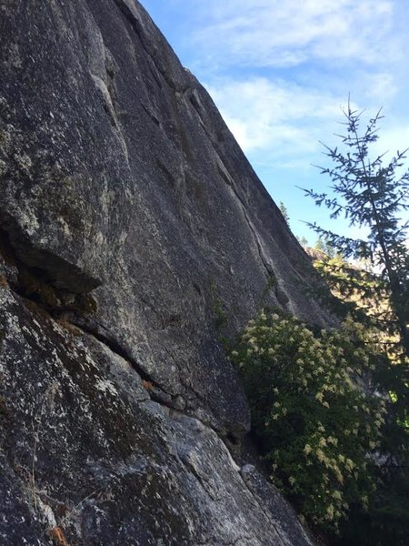 """Rock Climbing Photo: This photo was taken from the base of """"Flake ..."""