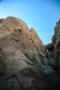 Rock Climbing Photo: Up on the series of crimps that make this route a ...