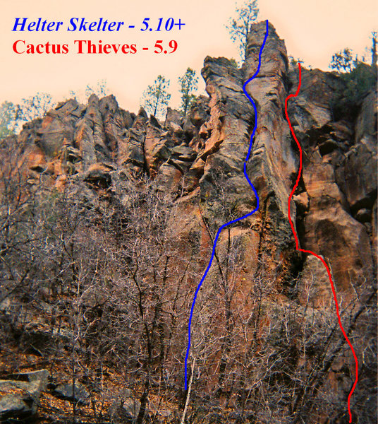 Rock Climbing Photo: Helter Skelter and Cactus Thieves