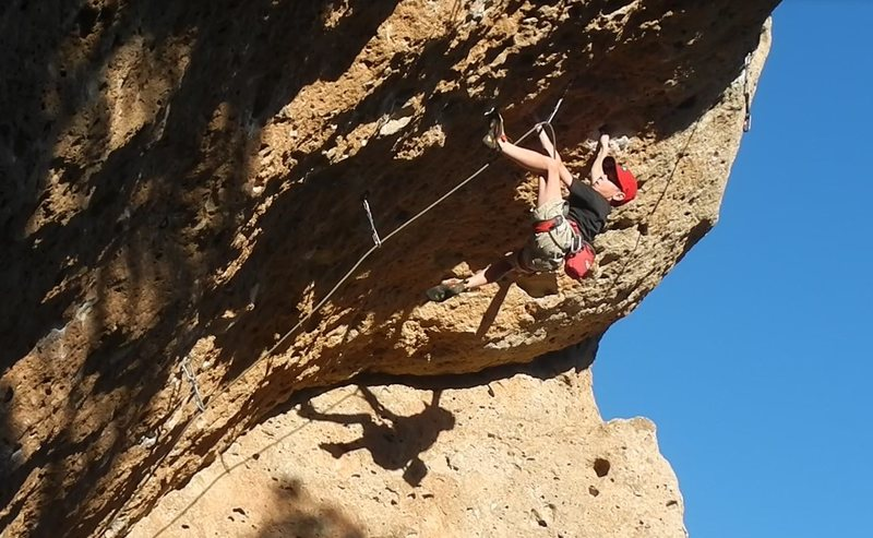 Rock Climbing Photo: Preston Edwards redpoints White Queen.