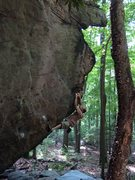 "Rock Climbing Photo: Ray Weber gettin' ""Outshined V4"" at Coop..."