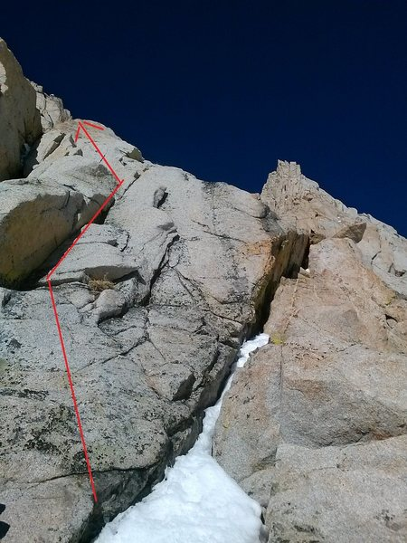 north side of east buttress toe