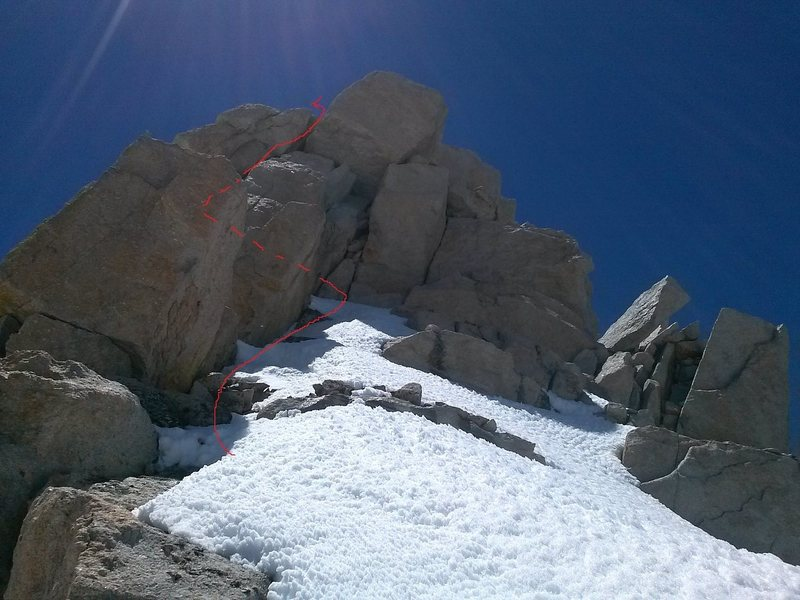 east face of the summit block