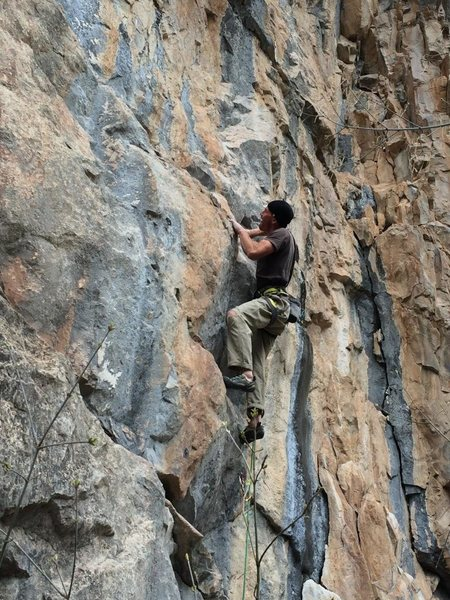 Maury on second ascent, April 2014.
