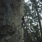 Rock Climbing Photo: Kurt Albert in Eraserhead, at the 2nd bolt. Photo ...