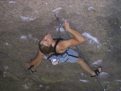 Rock Climbing Photo: Kathi Krause enjoying the best rest I could find o...