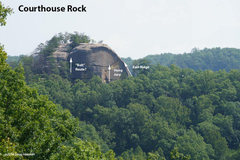 Rock Climbing Photo: North side of Courthouse Rock, as seen from Double...