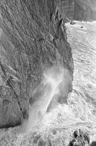 Leo Dickinson's classic shot of the first ascent.