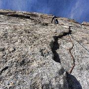 Rock Climbing Photo: Justin on climb
