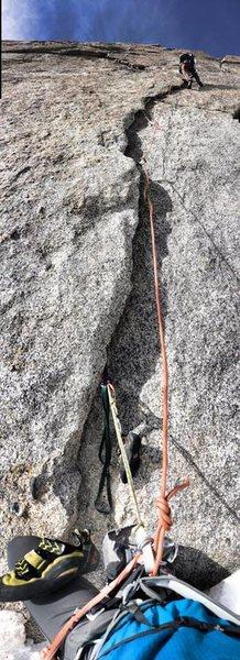 Rock Climbing Photo: Taylor en route.