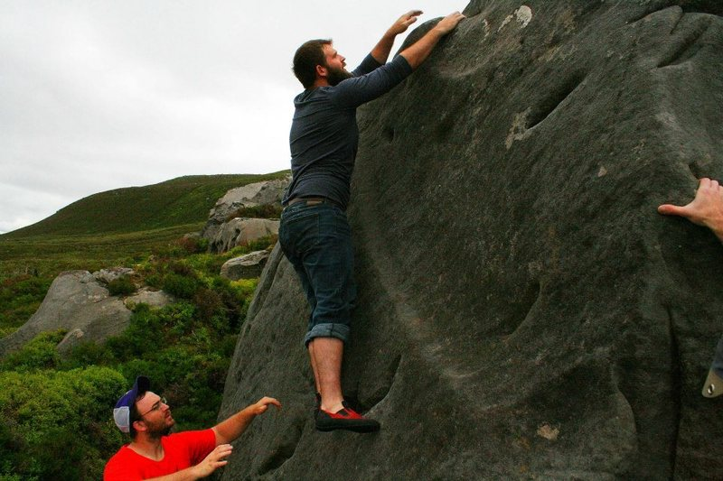 Rock Climbing Photo: The top out