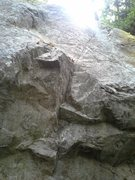 "Rock Climbing Photo: Top of the broken section is about 10"" off th..."