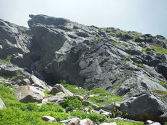 Rock Climbing Photo: Lower portion of Henderson Ridge - Diving Board vi...