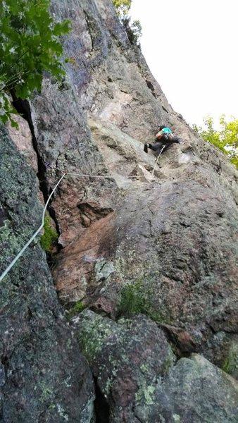 Rock Climbing Photo: Climbing Piton Highway.