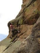 Rock Climbing Photo: Joe heads into the steep (steeper than it looks) c...