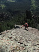 Rock Climbing Photo: Jason Antin heads solo up the East Face of Challen...