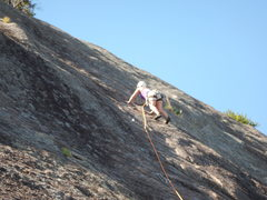 Rock Climbing Photo: Just after the crux on Ripple
