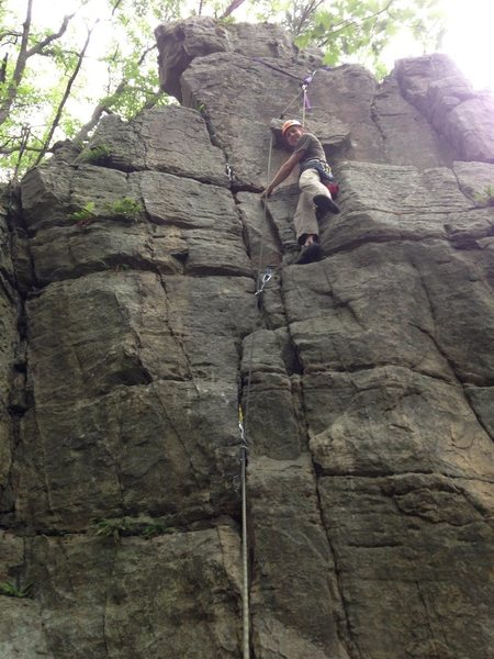 Rock Climbing Photo: A picture of me after I finished the climb. You ca...