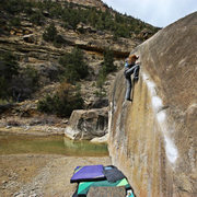 climbing in Joes valley. Photo credit: Thomas